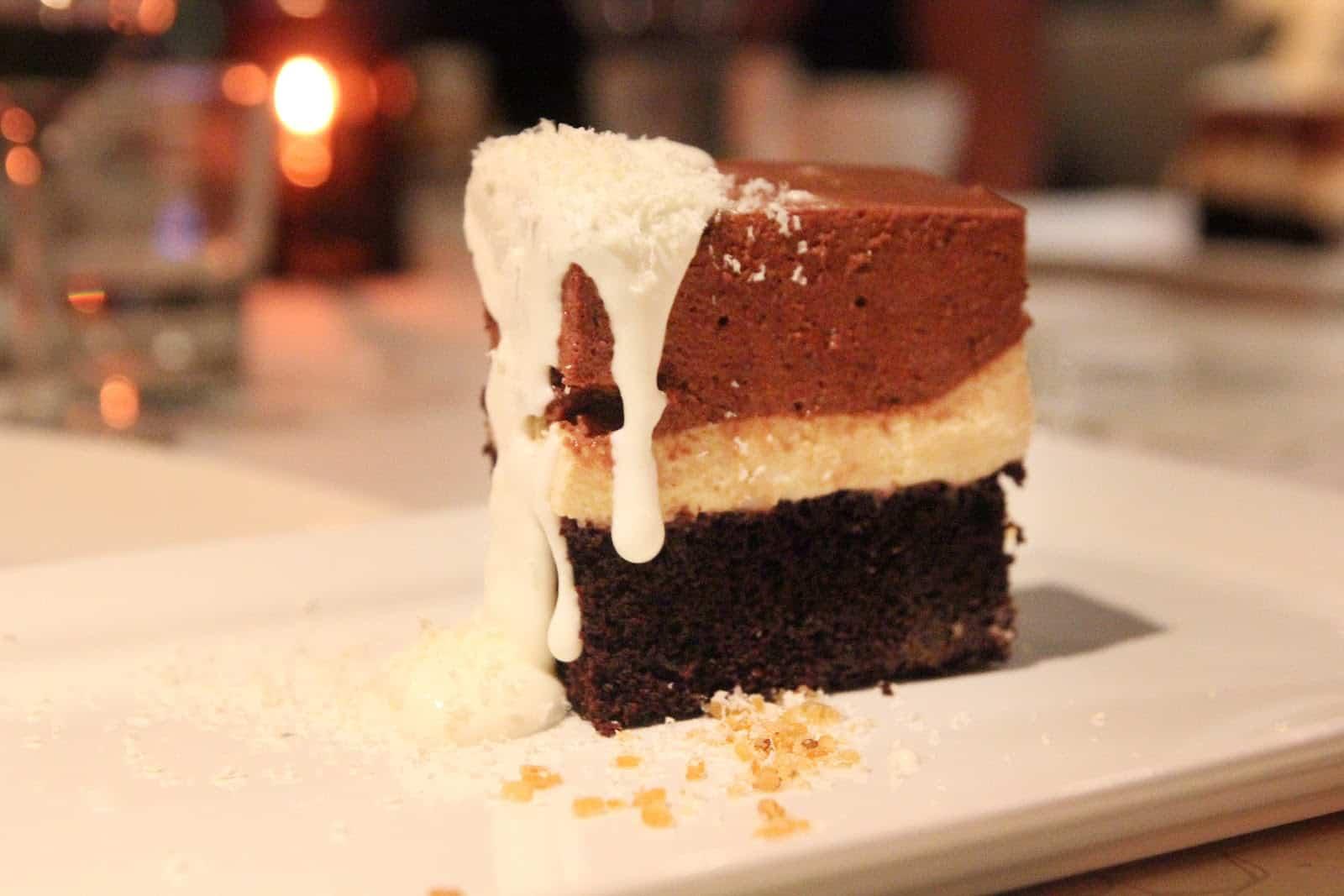 Chocolate-Peanut Butter Torte Recipe — Dishmaps