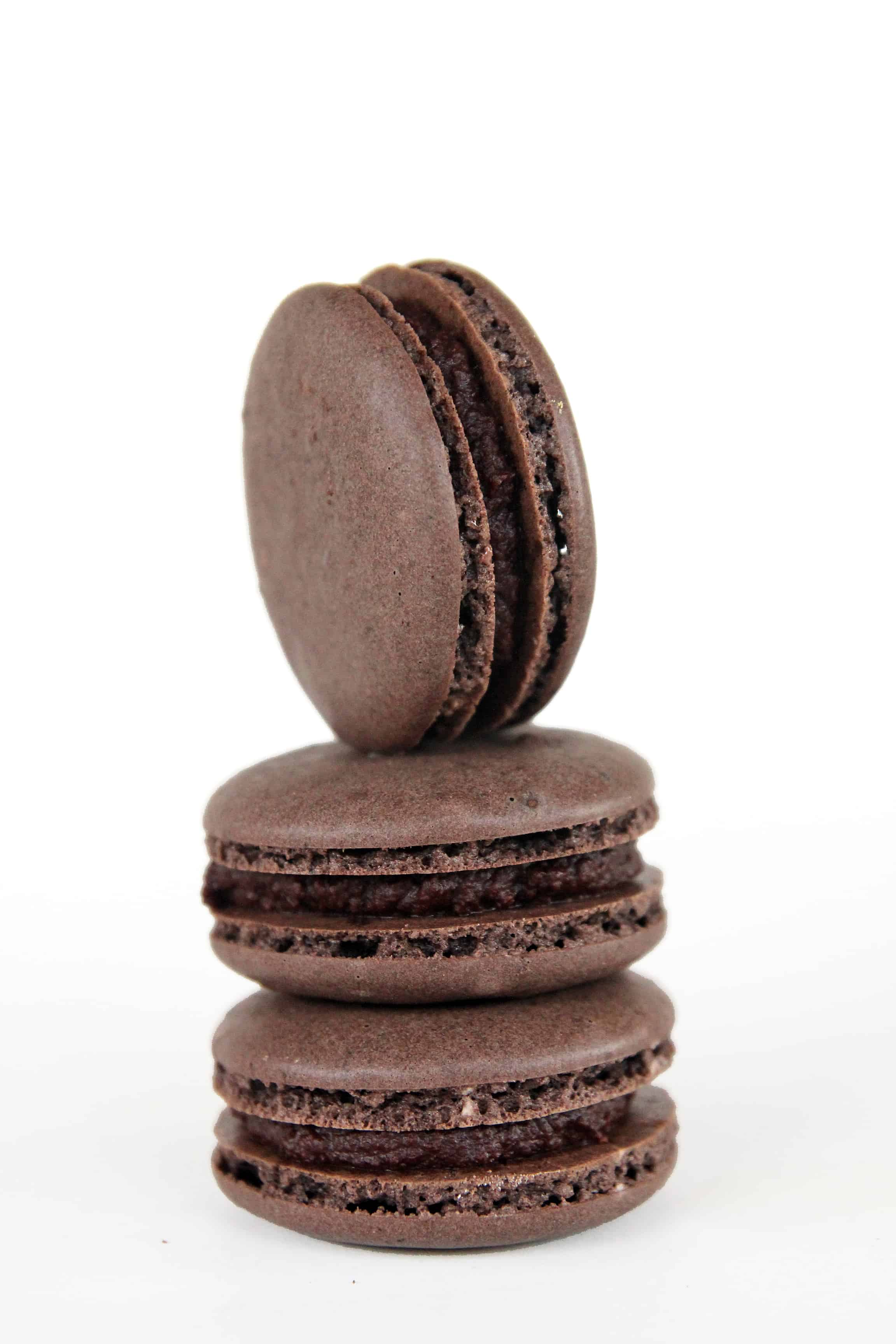Chocolate-Filled Chocolate Macarons (The French Way ...