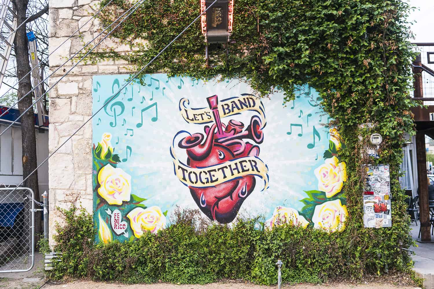 Let's Band Together Mural