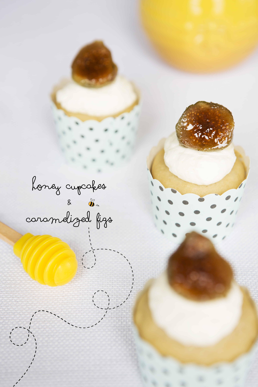 honey cupcakes, mascarpone frosting, caramelized figs, how to, cupcake recipe