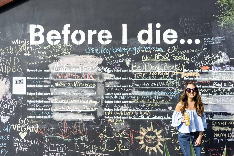 Before I Die Mural in Austin