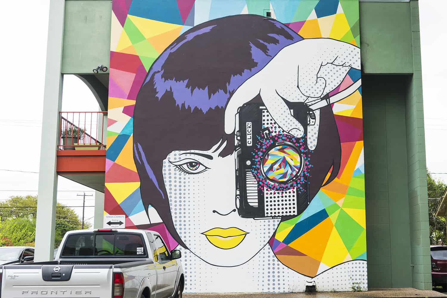 Girl With Camera Mural