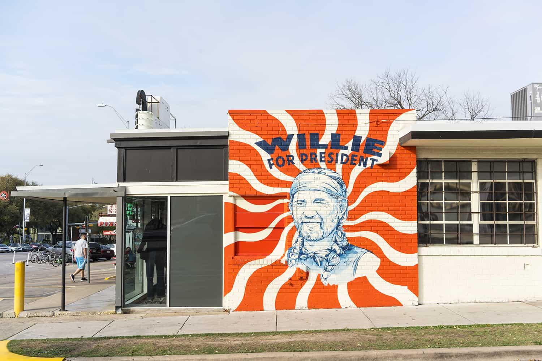 Willie Nelson For President Mural