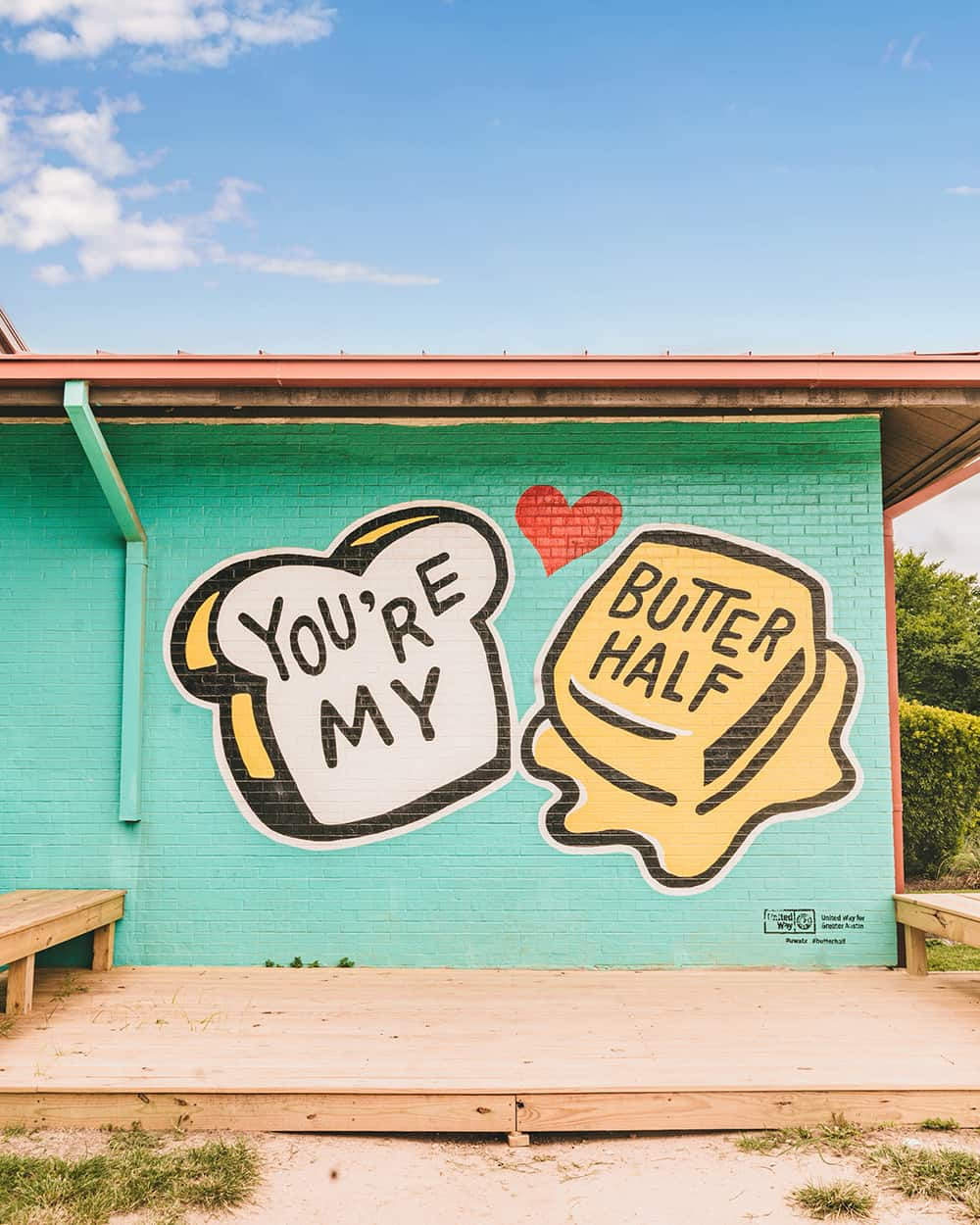 You're My Butter Half mural in Austin Texas