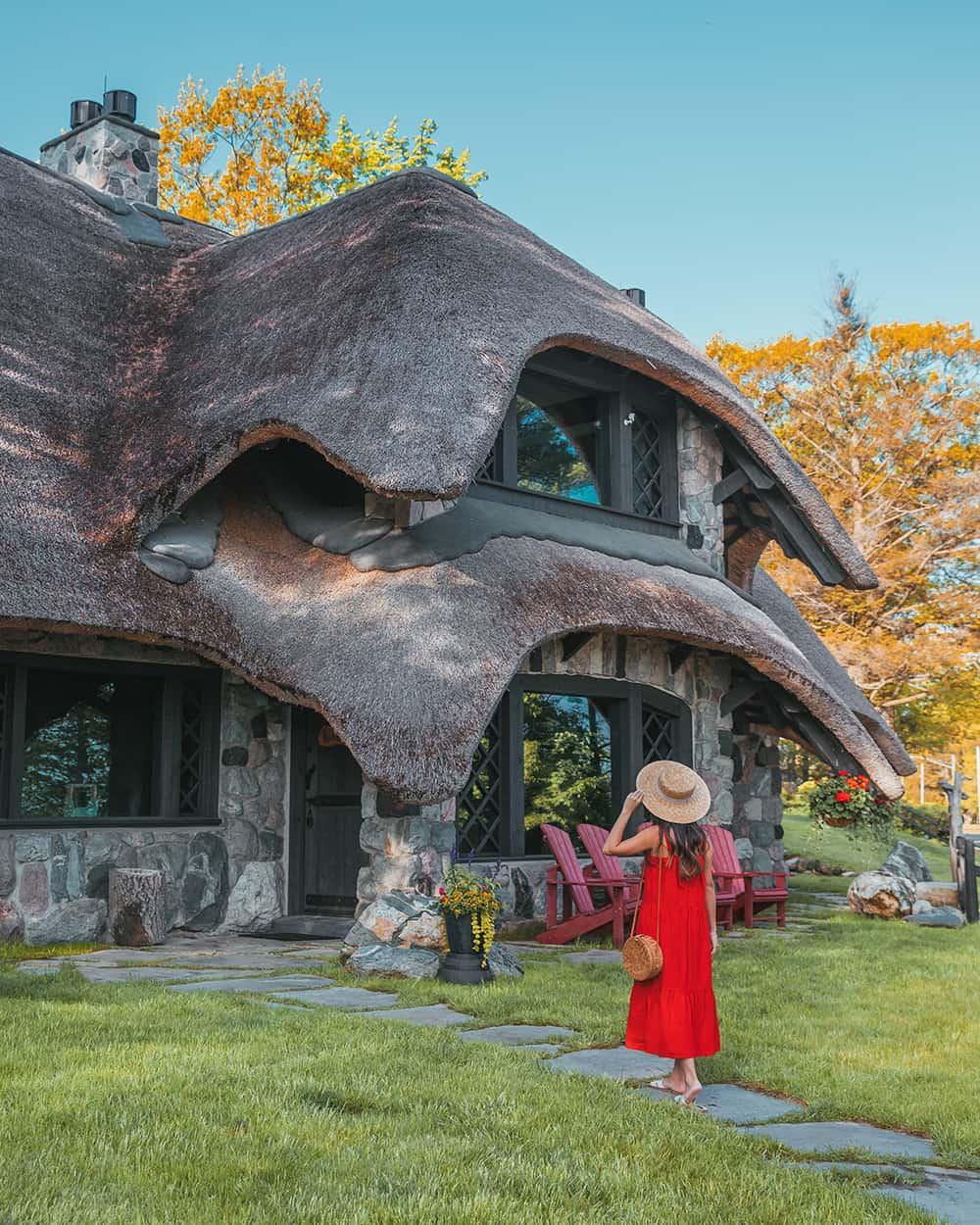 Mushroom house in Charlevoix, Michigan
