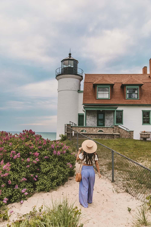 Point Betsie Lighthouse in Frankfort, Michigan