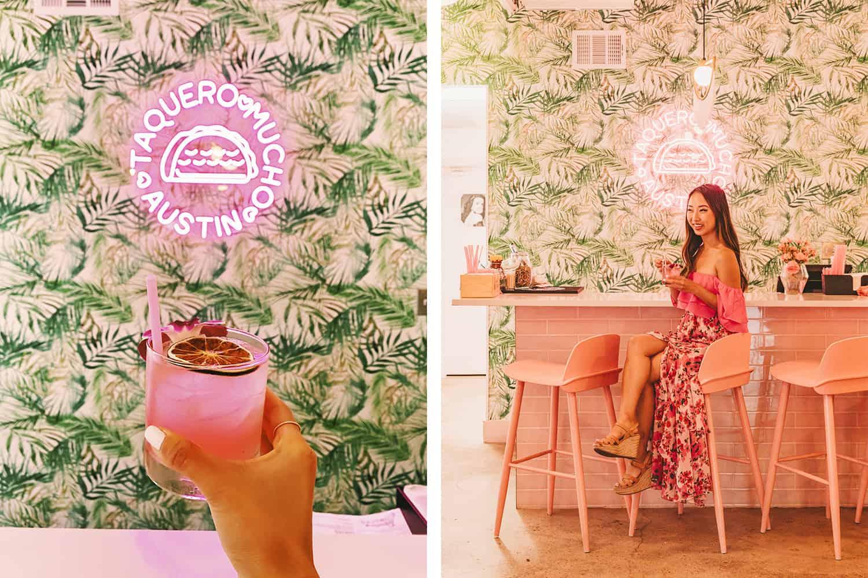Taquero Mucho Austin S Newest All Pink Mexican Restaurant Koko